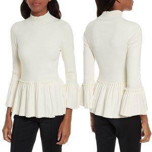 Ted Baker London Lislie Peplum Sweater Ivory